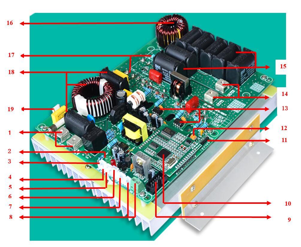 单相3.5KW电磁加热器图解说明