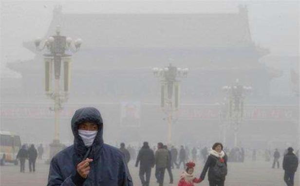 雾霾种的北京